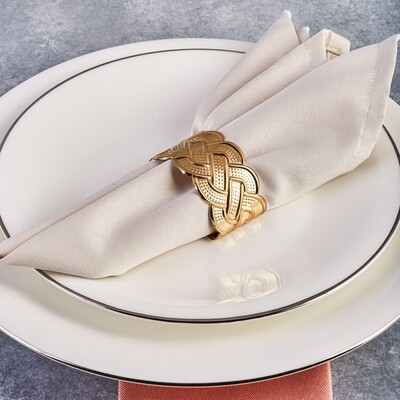 Karaca Rope Gold 6-Piece Napkin Ring