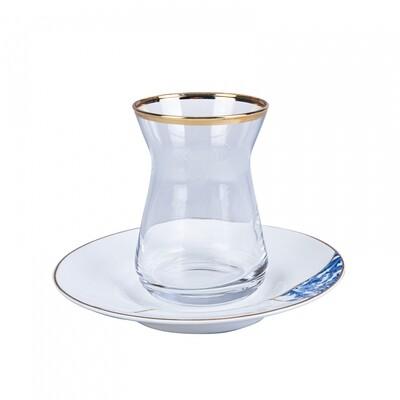 Karaca Fine Pearl Wabi Sabi 12 Parça İnci Çay Seti (Tea Set for 6)