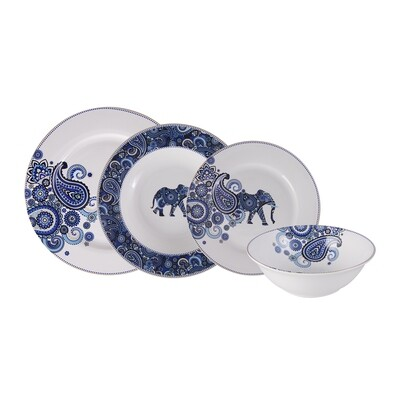 Karaca Bangalore 24 Piece Dinner Set fro 6 Man Dinnerware set
