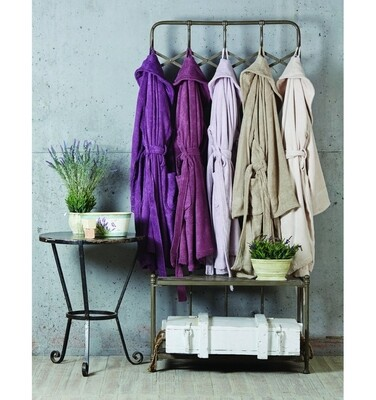 PURE SOFT LILA S / M BATHROBE
