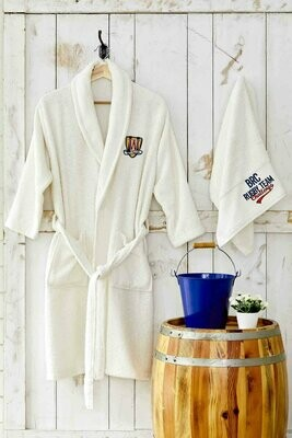 CHALLENGE BLUE YOUNG BATHROBE SET