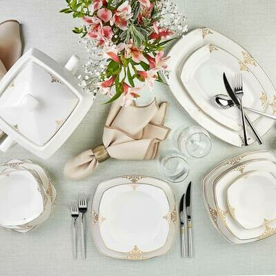 KARACA MILENA GOLD 60 PIECES DINERWARE NB Y.KARE