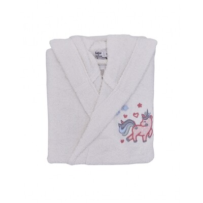 DIGNA 2-4 AGES BATHROBE-OFFWHITE