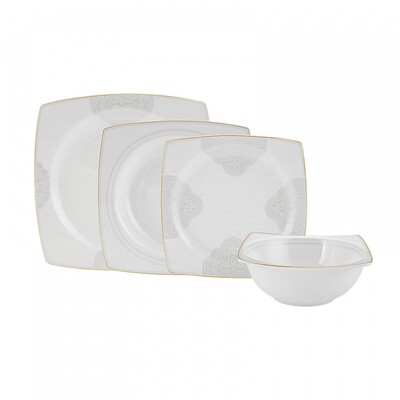 EMSAN CATALINA 6 PERSON DINNERWARE  SQUARE