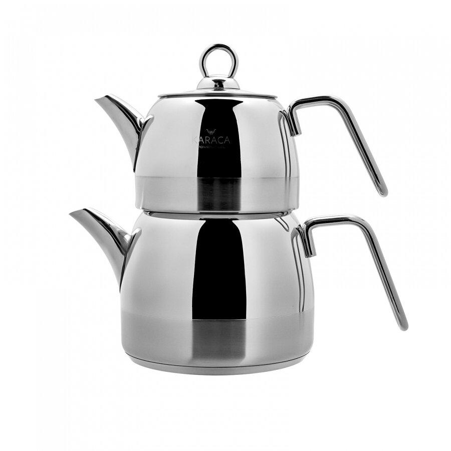 Karaca Kano PowerSteel 316 Steel Tea pot Set