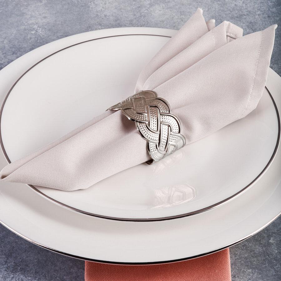 Karaca Rope Silver 6-Piece Napkin Ring