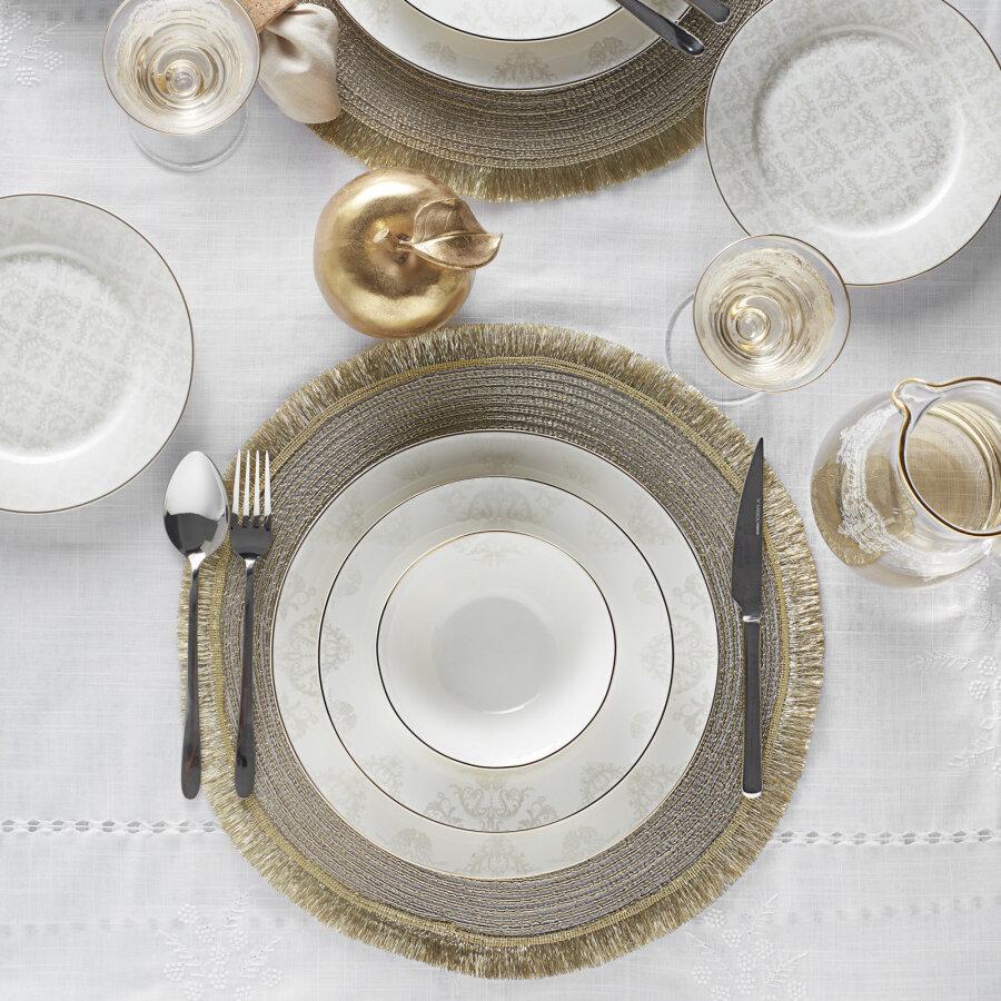 Karaca Siena 56 Pieces 12 Person  Gold Dining Set