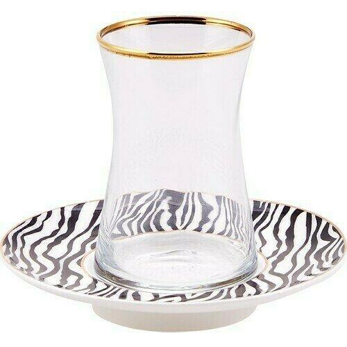 KARACA ZEBRA 6 LI ÇAY SETİ  (Tea set for 6)