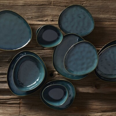 KARACA TEOS YESIL GREEN 24 PIECES DINNERWARE