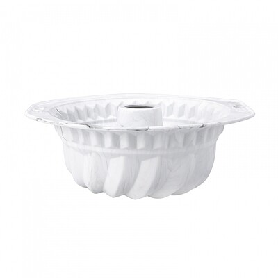 kARACA WHITE MARBLE Silicon YUVARLAK Cake Mold 22CM