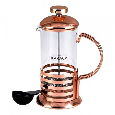 KARACA COFFEE BEAN FRENCH PRESS BRONZE LINEAR 350 ml