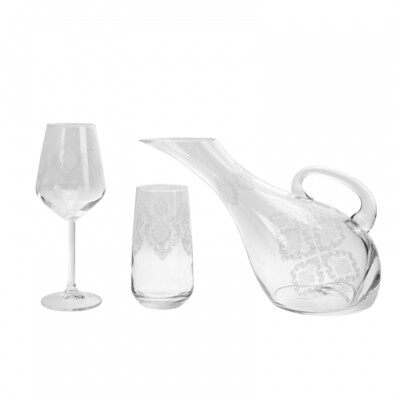 KARACA 25 Pieces  Glass SET BRIDAL YALDIZSIZ AKBY