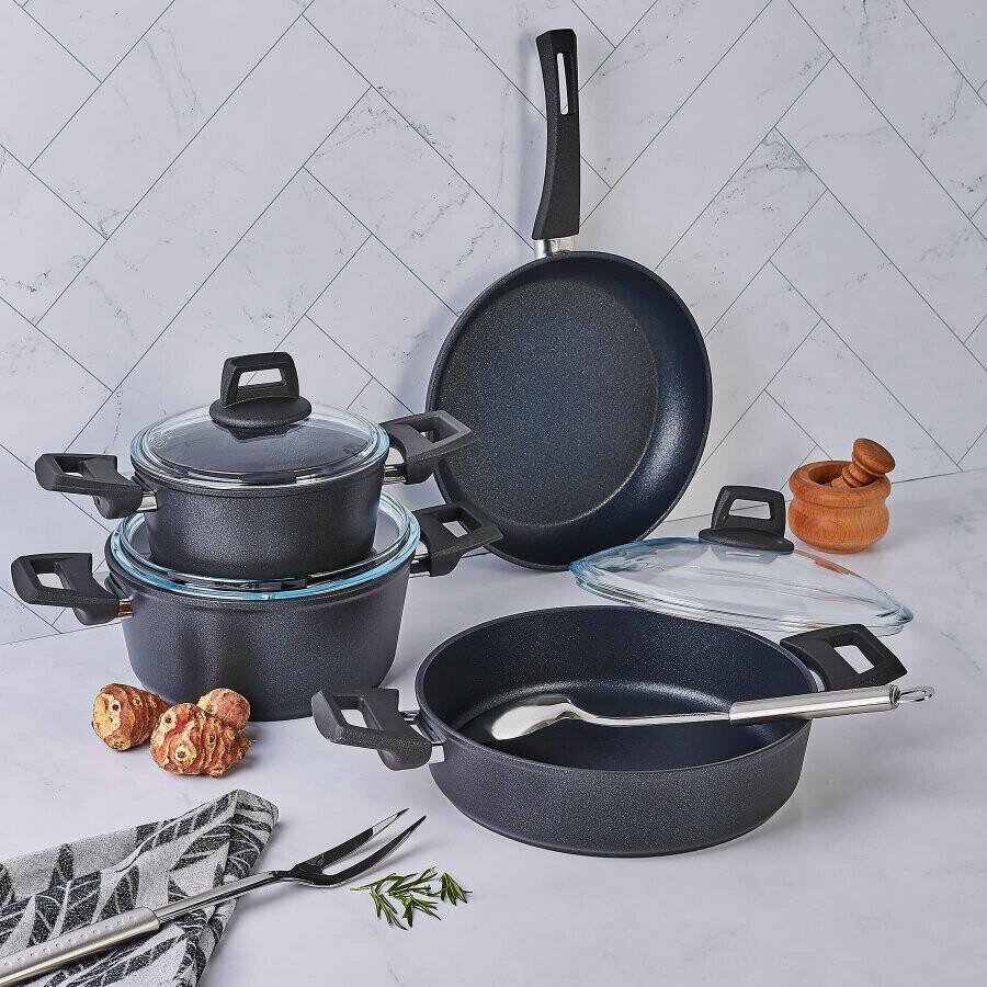 KARACA BIO DIAMOND NEW POWER 7 PIECES COOKWARE Stew Pot Se