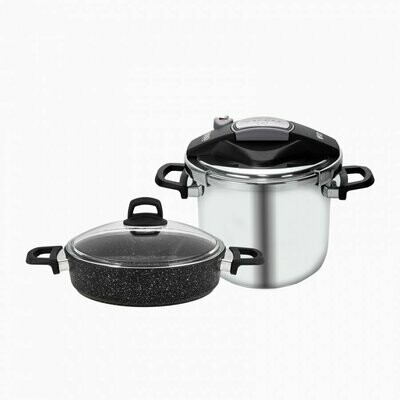 KARACA PERFECT 6 L Pressure Cooker+ Karniyarik Stew Pot SET COOKWARE