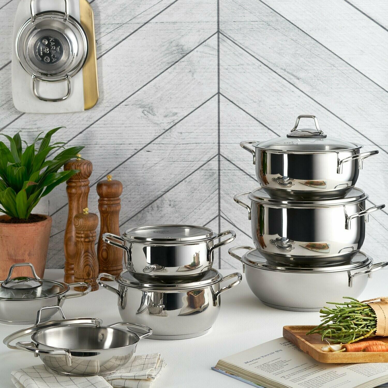 KARACA ATLANTIK Stew Pot COOKWARE SET 8 Pieces