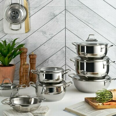 KARACA ATLANTIK Stew Pot COOKWARE SET 8 Pieces