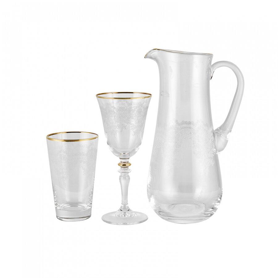 KARACA ELEGANT LACE ALTIN 25 Pieces  Glass SET HYL
