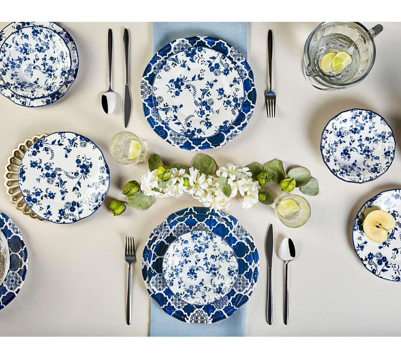 KARACA DEEP BLUE 24 Piece Dinner Set Dinnerware set