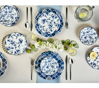 KARACA DEEP BLUE 24 Piece Dinner Set Dinnerware set