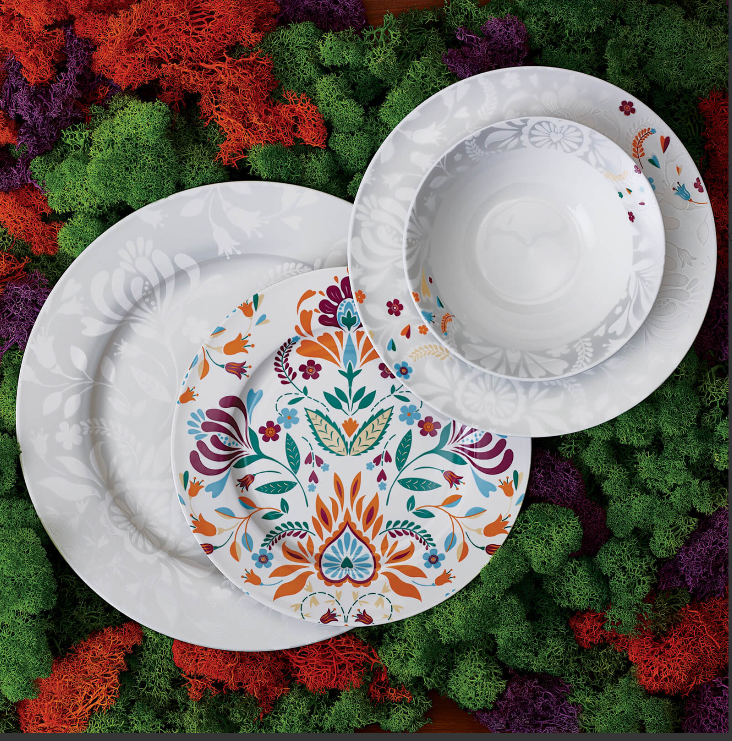 KARACA MEXICO CITY 6 Person Dinner Set Dinnerware set