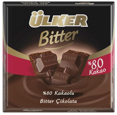 ULKER BITTER CHOCOLATE BARS 80% 60GR