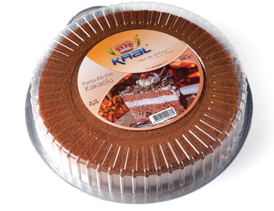 KRAL PASTA ALTI KEK KAKAOLU - CAKE SUB-CAKE WITH COCOA 280GR