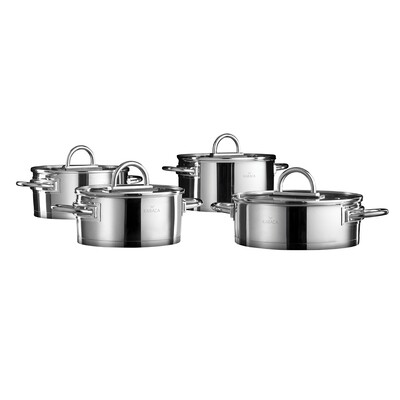 KARACA POWER STEEL KANSAI 8 PCS COOKWARE CELIK Stew Pot Set