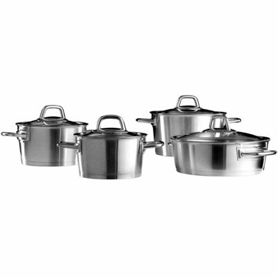KARACA POWER STEEL SAPPORA 8 PRC CELIK COOKWARE  Stew Pot Set