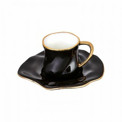 KARACA TEV Black 2 Person Coffee Cup in box