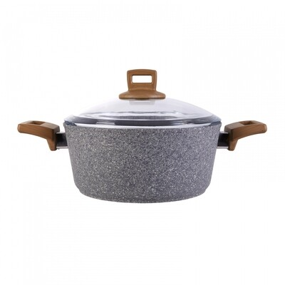 KARACA SILVER STONE GRANIT 24 CM COOKWARE   INDUCTION SAFE