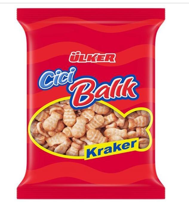 ULKER CICI FISH CRACKER 135GR (Balik Kraker)