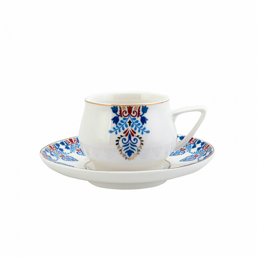 KARACA RELICA 6 Person Coffee Cup  (Turkish Coffee Set for 6)