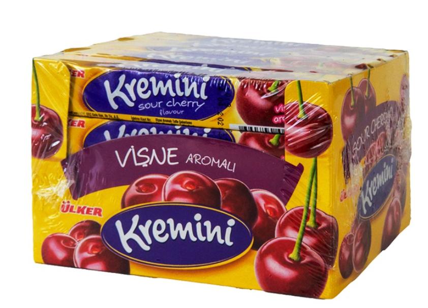 ULKER KREMINI TOFFE CANDY w CHERRY 44GR