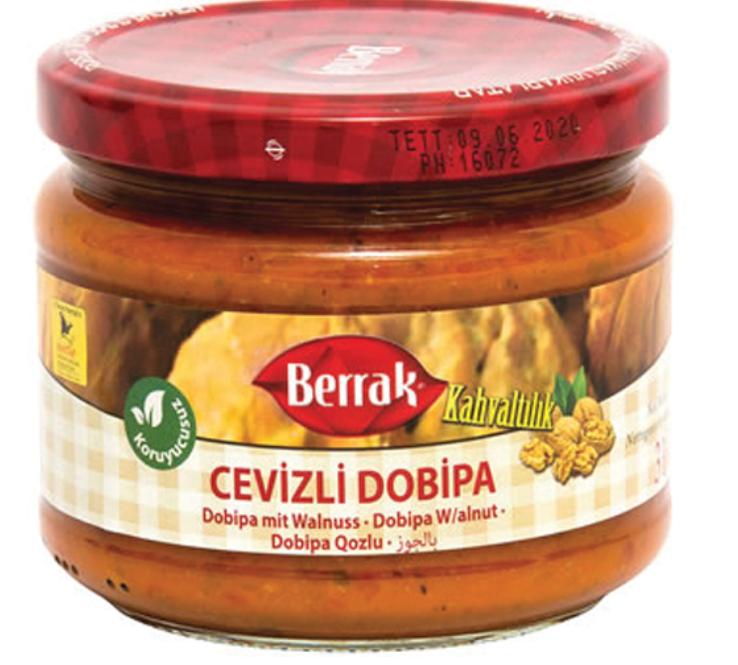 BERRAK DOBIPA SAUCE w/WALNUT (AJVAR) 370ML GLASS