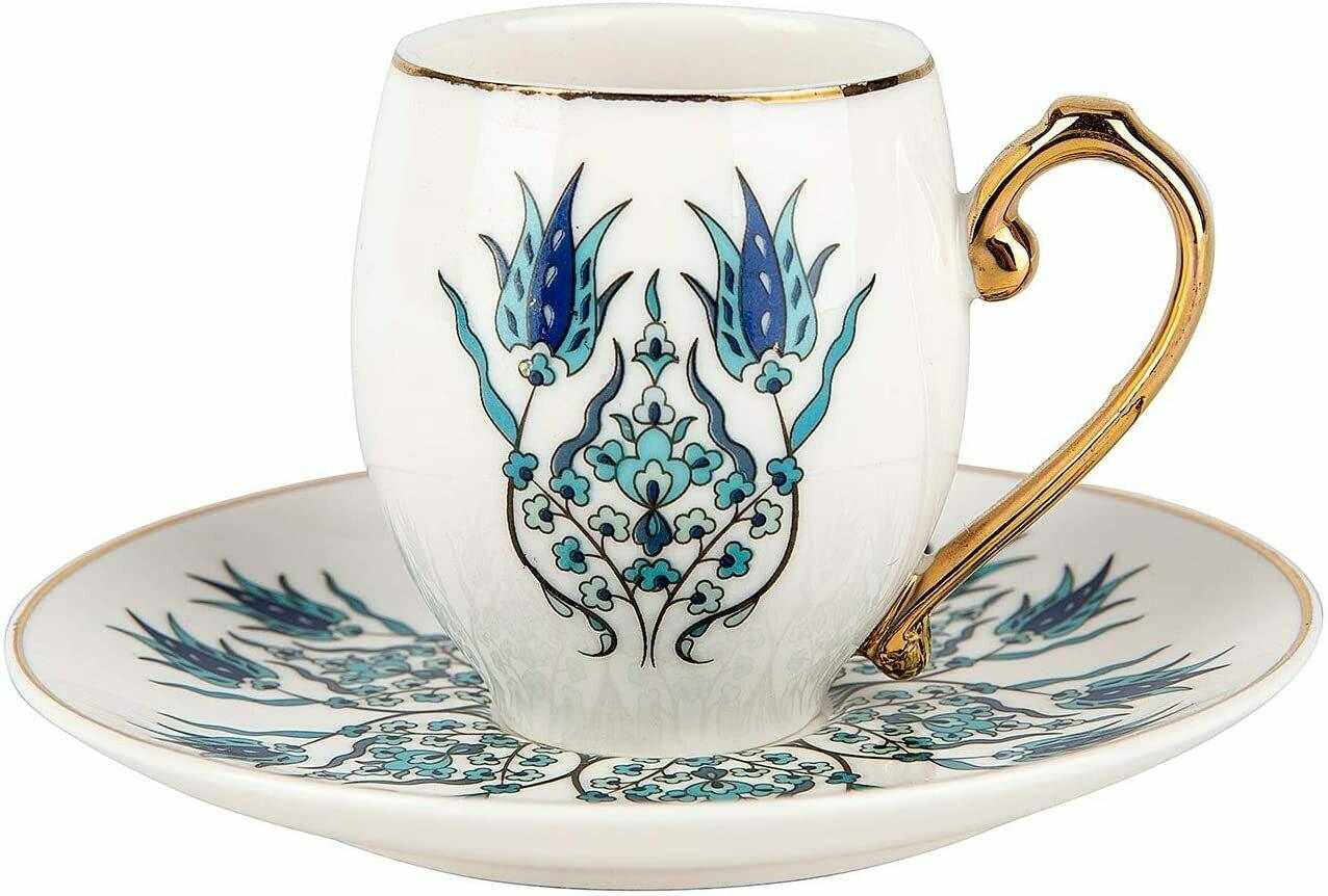Karaca İznik iznik 2 Person Turkish Coffee Cup Set