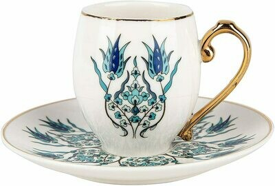 Karaca İznik iznik 2 Person Turkish Coffee Cup Set