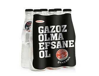 ULUDAG GAZOZ SUGAR FREE 250ML GLASS (6 Pack)
