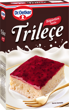 Dr. Oetker Trilece with Blackberry Sauce