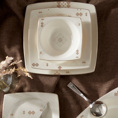 KARACA ADA 57 PIECES DINNERWARE  NB SQUARE