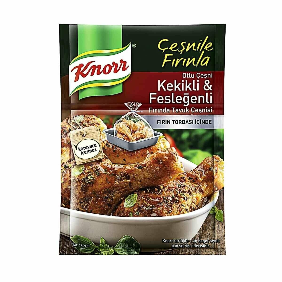 Knorr  Kekikli Feslegenli Tavuk Cesni 29gr Chicken Grill Mix with Thyme and Basil