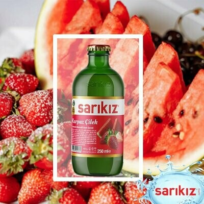 Sarikiz Mineral Water SPARKLING WATER with Watermelon and Strawberry  250ML X 6