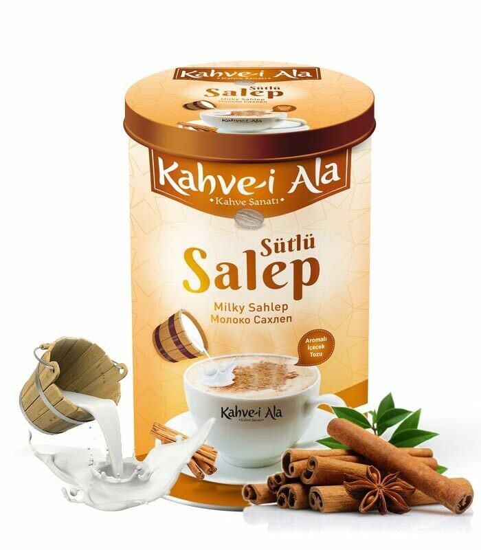 Kahve-i Ala Sütlü Salep 500gr Salep Sahlep Drink