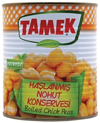 TAMEK BOILED CHICKPEAS 800GR CAN