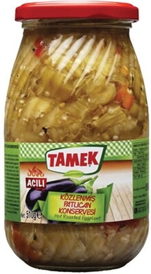 TAMEK ROASTED EGGPLANT HOT 510GR GLASS