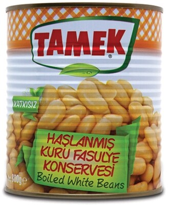TAMEK BOILED WHITE BEANS 800GR CAN