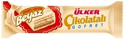 ULKER Cikolatali Gofret  ULKER CHOCOLATE WAFERS WHITE 35GR