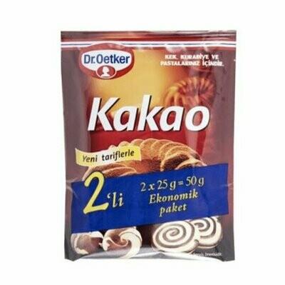 Dr. Oetker cacao 2 pack x 25 gr  (kakao)