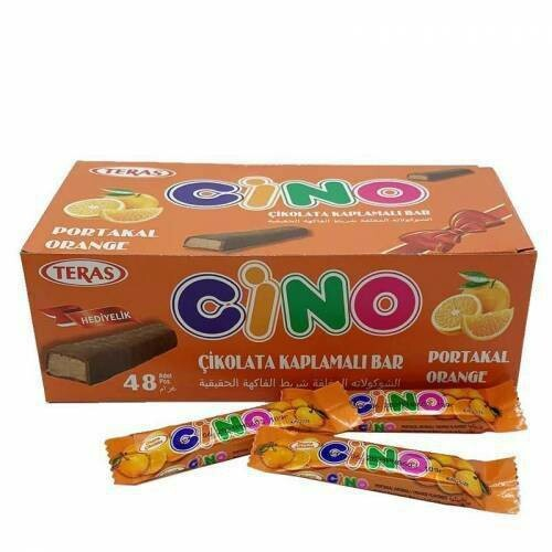 Teras Cino Kayısılı ve Portakallı Çikolata  11 Gr X 4 paket