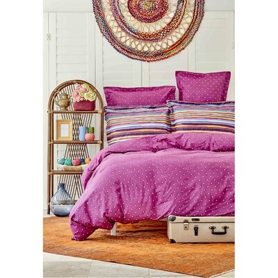 ​Sarah Anderson Adya Cotton Double Duvet Cover & Pillowcase Set
