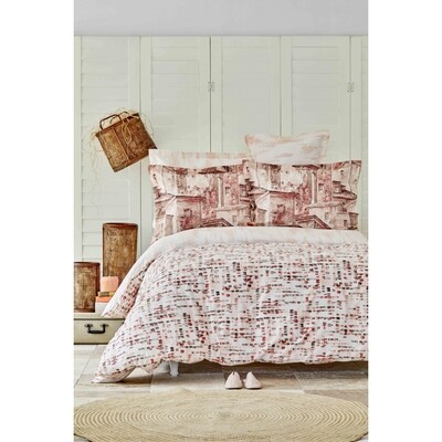 ​Sarah Anderson Vella Cotton Double Duvet Cover and Pillow Set